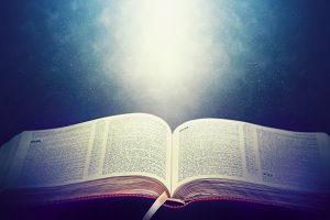 The Bible with light