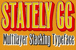 Stately GG Stacking Typeface