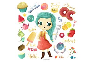 planner girl kitchen | 30 clipart