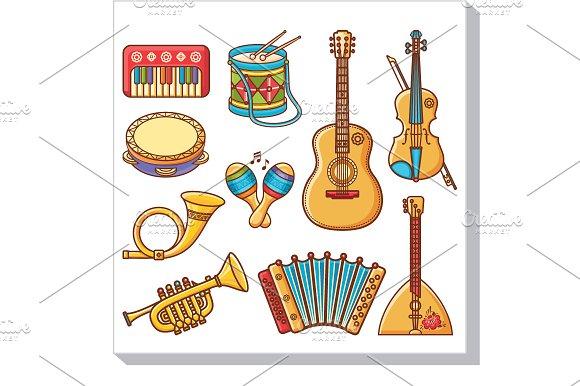 Musical Instruments Cartoon