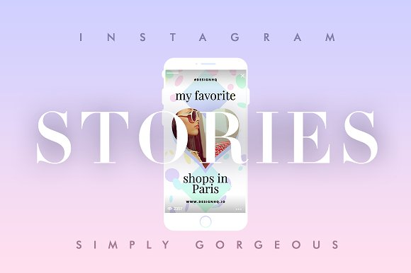 INSTAGRAM STORIES - SIMPLY GORGEOUS in Instagram Templates