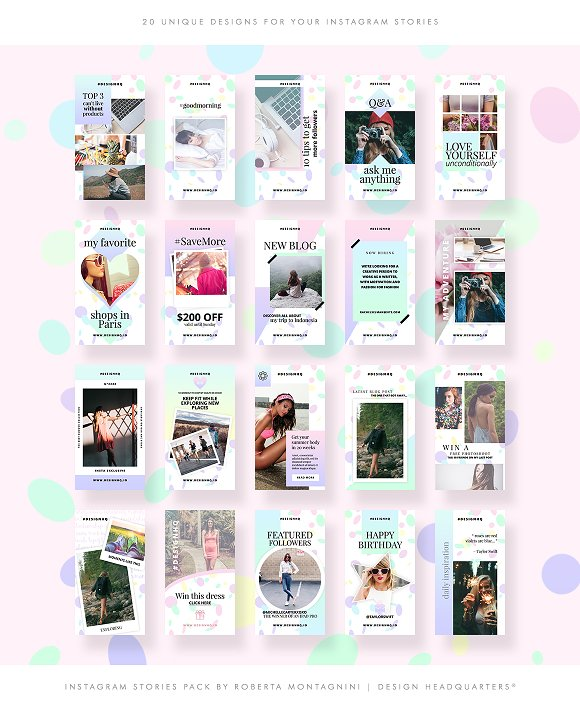INSTAGRAM STORIES - SIMPLY GORGEOUS in Instagram Templates - product preview 3