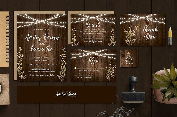 Rustic Wedding Invitation S-Graphicriver中文最全的素材分享平台