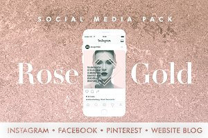 ROSE GOLD | SOCIAL MEDIA BUNDLE