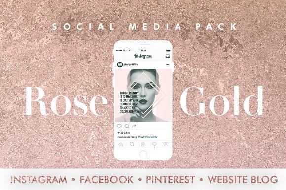 ROSE GOLD | SOCIAL MEDIA BUNDLE