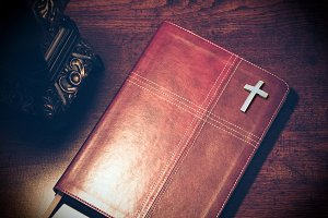 Bible on the Pastor desk