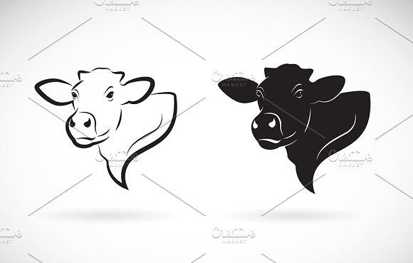 Vector Of Cow Head Design