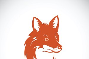 Vector of a fox head.