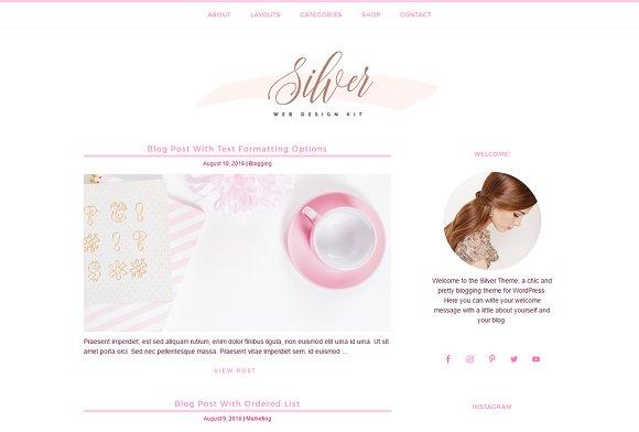 Feminine Blog Shop Genesis Theme
