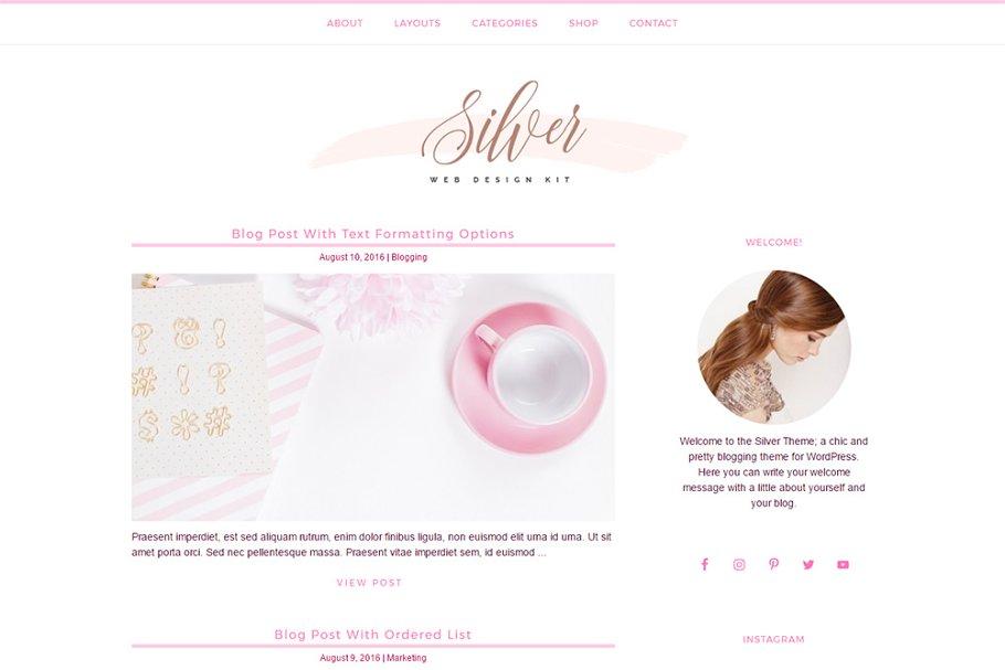Girly - Feminine WordPress Theme ~ WordPress Blog Themes ~ Creative