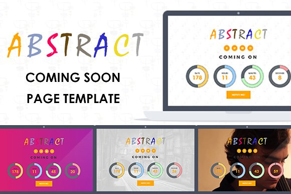 Abstract ComingSoon Page Template