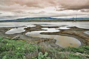 Alviso Slough and Diablo Range