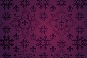 interior design, purple wallpaper