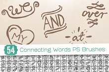 54 Connecting Words PS Brushes