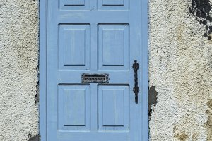 Greek blue door