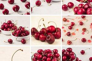 sweet cherry collage 2