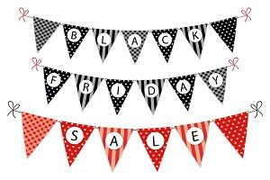 Cute SALE bunting flags as garlands