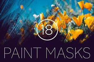 18 Grungy Paint Photoshop Masks