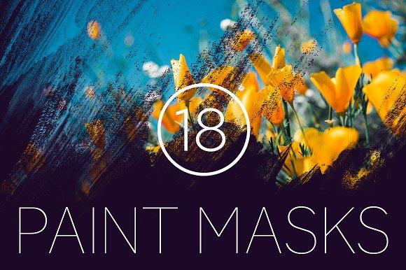 18 Grungy Paint Photoshop Masks