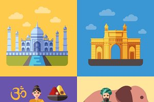 India flat traveling concepts