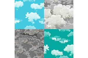 cloud in the sky seamless pattern, air nature decorative background, texture for fabric design vector illustration
