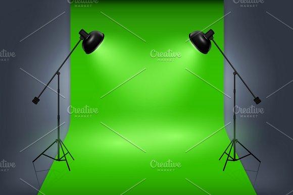 Studio Interior With Spotlights