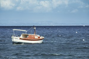 Boat in the Mediterranean Sea.