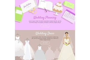 Wedding Planning and Dress Web Banner.