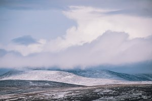 Mountain Landscape in Snow, Scotland