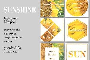 Sunshine Instagram Minipack