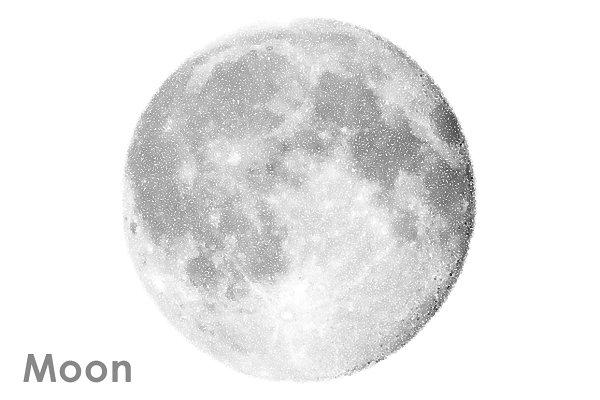 Moon vector set.