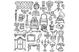 Antiques Doodle Set