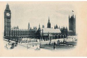 London, Big Ben, 1900