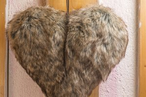 Heart shaped leather