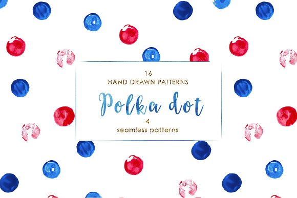 Polka Dot Hand Drawn Patterns