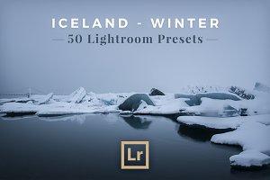50 Lightroom Presets: Iceland Winter