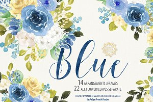 Blue Romance Flower Design