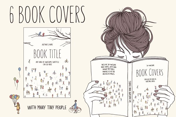 6 Book Covers - Tiny People