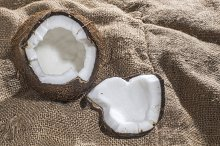 Coconut on burlap
