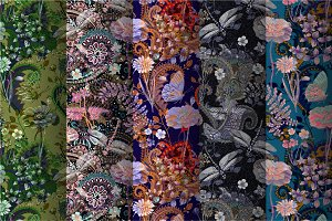 5 Seamless floral patterns