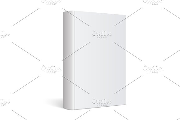Light Realistic Blank Book Cover