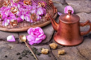 Tea with tea rose