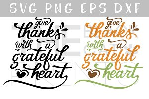 Give Thanks SVG PNG EPS DXF