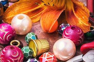 Handmade vibrant jewelery
