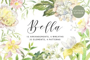 Bella. Watercolor floral collection