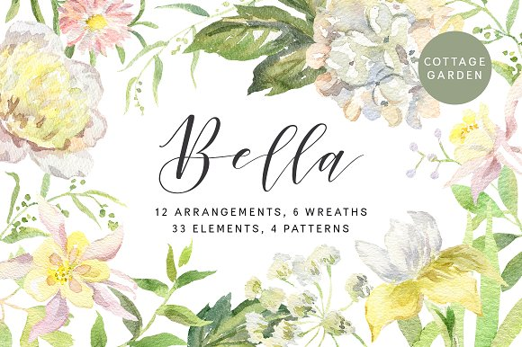 Bella Watercolor Floral Collection