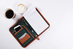 Business Desk with Coffee