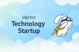 Technology Startup in Flat Vector