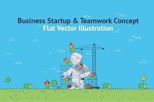 Startup Under Construction Flat