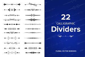 22 Vintage Calligraphic Dividers
